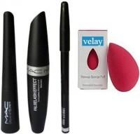 velay Eyebrow Pencil Black & Liquid EyeLiner & Mascara(4 Items in the set)