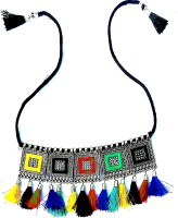 RSPR Afghani Boho Art Oxidised Traditional Choker Necklace for Women and Girls Alloy Choker