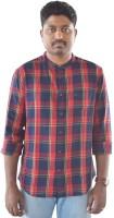 Weaver Men Checkered Casual Red Shirt