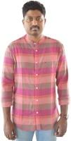 Weaver Men Checkered Casual Maroon Shirt