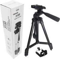 SCORIA Portable Adjustable Aluminium Lightweight Camera Stand Tripod-3120 Tripod(Black, Supports Up to 450 g)