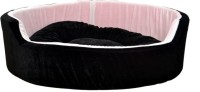 RK PRODUCTS 51 BLACK WITH WHITE M Pet Bed(Black)