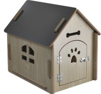 24x7eMall Dog House Pet Wood Dog Kennel with Gate Indoor and Outdoor House Easy Assembly Ideal for Small and Medium Pets 31 x 27 x 21.5 Inches Dog House