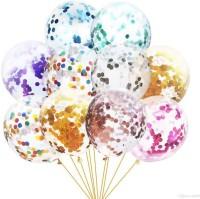 Bash N Splash Solid Multicolored Confetti Balloon Pack Of 10 Balloon(Multicolor, Pack of 10)