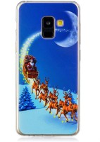 Phone Case Samsung A8 2018 Case, Tpu Soft Shell Christmas Printed Back Case Cover for Samsung A8 2018