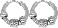 Men Style Punk Men Earrings Ball Pendant Circle Ring Earring Piercing Jewelry Earrings Stainless Steel Hoop Earring