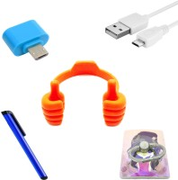 Liveware electronics Mobile Holder Accessory Combo for All Kinds of Smartphones(Assorted)