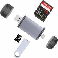 Tec Tavakkal USB Card Reader Card Reader(Silver, Black)