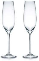 Avora (Pack of 2) Flute Glass Set, champagne Clear Glass Glass Set(165 ml, Glass)