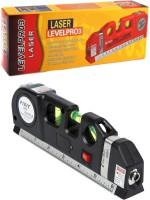 Techtest Digital Distance Laser Level Meter Pro 3 Leveller Black 2 Line Measurement Tool Device Instrument Professional Horizontal Vertical Measure Level Pro 3 Non-magnetic Line Level(30 cm)