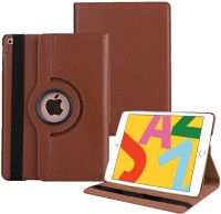 TGK Flip Cover for iPad 10.2 Inch 2019 7th Generation (A2197 / A2198 / A2200) with Rotating Leather Stand Case(Brown, Shock Proof)