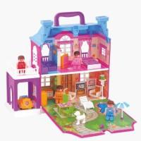 Sajani Beautiful Dream Palace Doll House with Light, Furniture, Figurines(Multicolor)