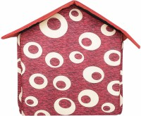 EMILY PETS Imported Cat & Dog Lovers Foldable Printer Velvet Fabric Puppy House Cat, Dog House