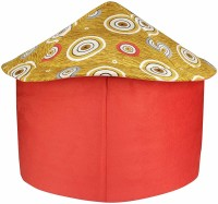 EMILY PETS Cat & Dog Lovers Foldable Printer Velvet Fabric Puppy House (Red & Yellow) Cat, Dog House