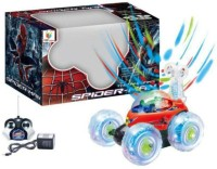 himanshu tex Remote Controlled Spiderman Car, Radio-Controlled Rechargeable Vehicle All Around Dancers Kids Stunt Car Toy(Multicolor)