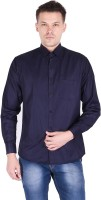 BEST BRAND Men Solid Casual Blue Shirt