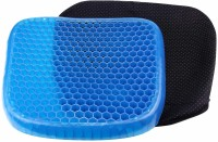 BEMALL Gel Seat Cushion Seat Cushion with Non-Slip Cover Breathable Honeycomb Design Hip Support(Blue)