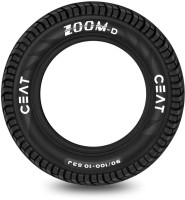 CEAT 90/100-10 D TL 53J 43.4X9X43.4 Front & Rear Tyre(Dual Sport, Tube Less)