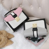 Women Fashion Glossy Soft Multi Zippers Letter Strap Chest Bag Fanny Pack Pouch