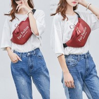 Fashion Glossy Laser Zipper Waist Pack Adjustable Strap Woman Corssbody Bag