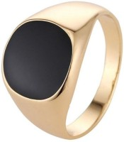 Male Ring Classic Glossy Golden Color Fashion Jewellery