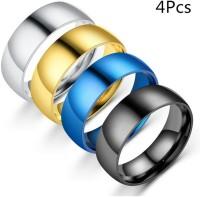 4Pcs Stainless Steel Glossy Matte Unisex Ring Fashion Jewellery