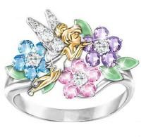 1 Pc Pink Elf Angel Wing Epoxy Diamond Ring (Fashion Jewellery)