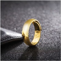1 Pc Gold Gold Plated Open Glossy Gold Ringn (Fashion Jewellery)