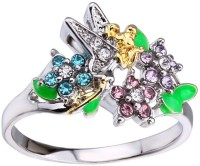 1 Pc White gold Elf Angel Wing Epoxy Diamond Ringn (Fashion Jewellery)