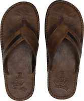 Kraasa Men Synthetic Leather Chappal (Camel) Slippers