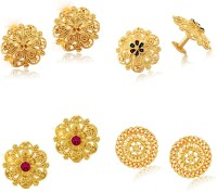 VIGHNAHARTA Traditional Trend 1gm Gold Plated Earrings for Women [Pack of 4 Pair} Alloy Stud Earring