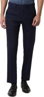 Peter England Slim Fit Men Dark Blue Trousers