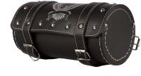 KunjZone One-side Black Leatherette Motorbike Saddlebag(4.8 L)