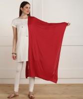 W Cotton Blend Solid Women Dupatta