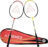 Adrenex by Flipkart R201 Combo with cover Multicolor Strung Badminton Racquet(Pack of: 2, 196 g)