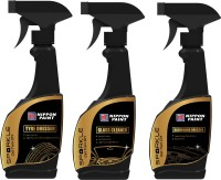 Nippon Paint Sparkle Combo of Tyre Dresser 250ml + Dashboard Dresser 250ml + Glass Cleaner 250ml Car Washing Liquid(750 ml)