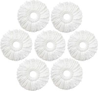 KitchenFest Premium Quality (Set of 7) Mop Refill , Mop Replacement Head Refill(White)