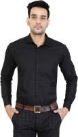 BEST BRAND Men Solid Formal Black Shirt