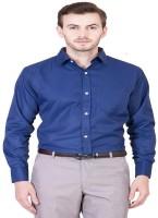 NOBITA Men Solid Formal Blue Shirt