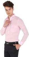 NOBITA Men Solid Formal Pink Shirt