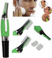 BK enterprise Safe & Smooth Micro Touch Personal Nose Ear Neck & Eyebrow/ All-in-One Micro Touch  Runtime: 120 min Trimmer for Men(Green)