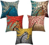 igi 3D Printed Cushions Cover(Pack of 5, 40 cm*40 cm, Multicolor)