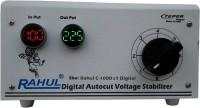 rahul C-1000 c Digital 1 KVA/4 AMP 90-260 Volt Shop & Desert Cooelers/Main Line Autocut Digital Voltage Stabilizer Digital Auto Cut Stabilizer(White)
