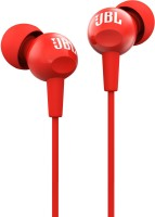 JBL C150SI Wired Headset(Red, Wired in the ear)