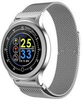Opta OPTA SB-100 Fitness Band Smart Watch Silver Smartwatch(Silver Strap, Free Size)