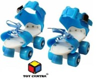 Toy Centre Adjustable 4 Wheel Skating Shoes Roller Skates for Kids Age Group 4-14 Years Quad Roller Skates. Quad Roller Skates - Size 4-8 UK(Blue)