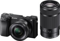 Sony ILCE-6100Y/B IN5 Mirrorless Camera with 16-50 mm & 55-210 mm Zoom Lenses(Black)