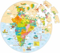 Lattice Amazing India Map Jigsaw Floor Puzzle 60 Pcs with 4 Double Sided Flashcards(60 Pieces)
