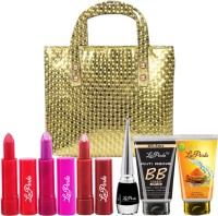 LaPerla Beauty Makeup Combo With Golden Note Book Hand Bag Set of 7 GC578