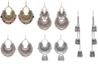 PRASUB Combo of 5 earrings Afgani Designer Jhumki Traditional Stylish Earrings for Women and Girls Alloy Chandbali Earring, Jhumki Earring